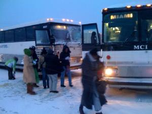 One Obama Bus Breaks Down, Forcing a Passenger Relocation--and Delay