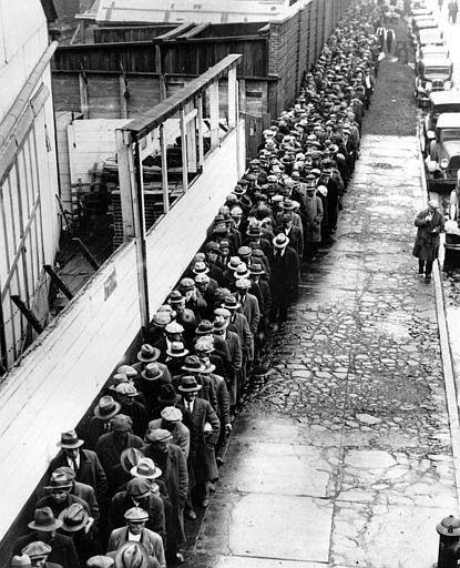 U.S. DEPRESSION BREAD LINE